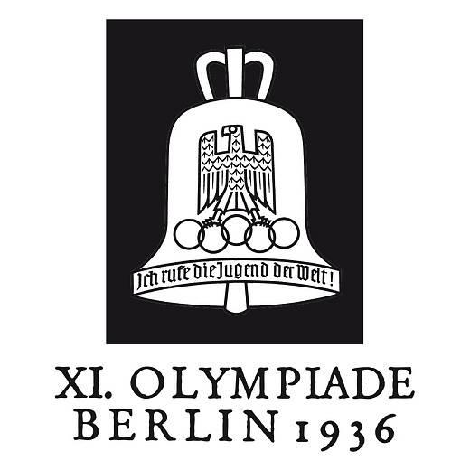 Logo olympiády v Berlíně v roce 1936.