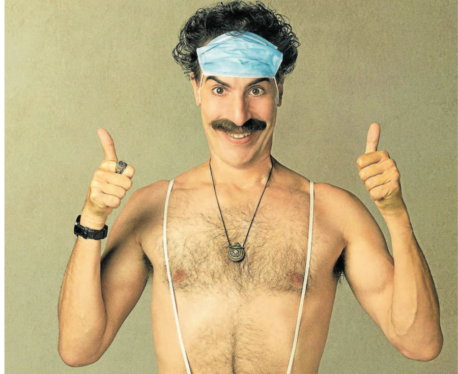 Nový Borat vznikl celý během pandemie koronaviru, který se stal jedním z témat očekávané komedie.
