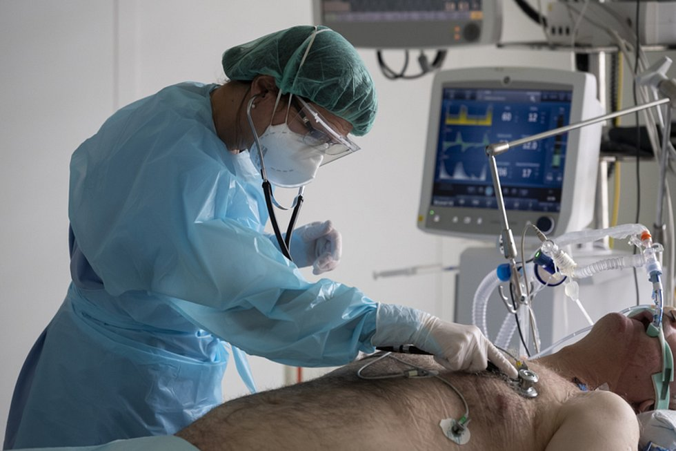 Anesteziologicko-resuscitační klinika v Thomayerově nemocnici v Praze, kde ošetřují pacienty s koronavirem