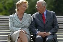 Královna Paola s manželem Albertem II.