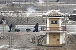 Vesnice Pchanmundžom v demilitarizované zóně, která rozděluje Korejský poloostrov.