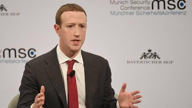Šéf Facebooku Mark Zuckerberg na bezpečnostní konferenci v Mnichově.
