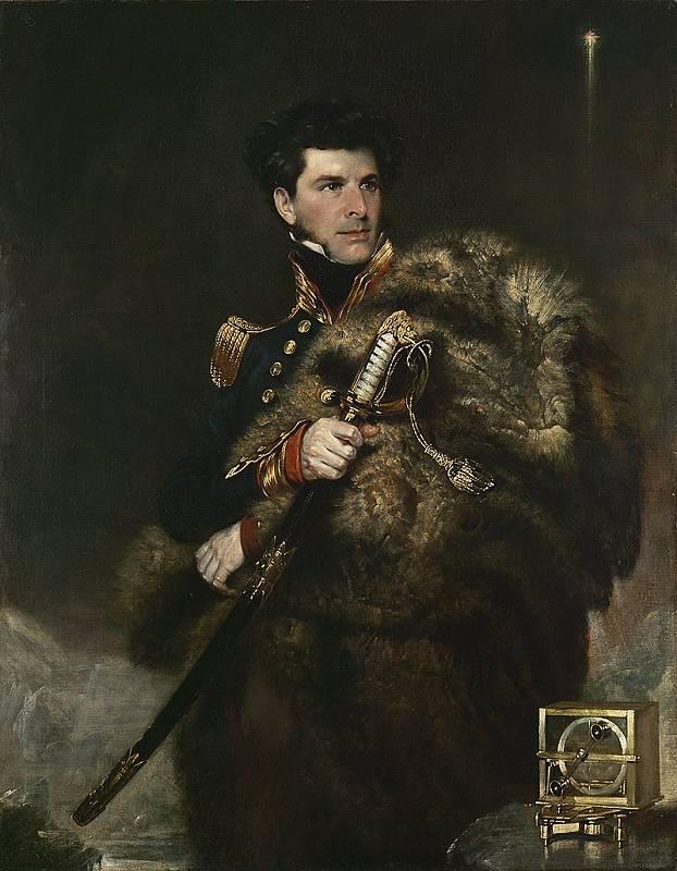 James Clark Ross na obrazu Johna R. Wildmana