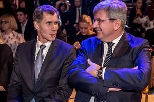 Jiří Kejval (vlevo) a Miroslav Jansta na vyhlášení Sportovec roku.