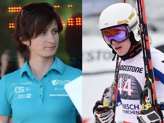 """Sportovní """"obojživelnice"""" Martina Sáblíková (vlevo) a Ester Ledecká."""