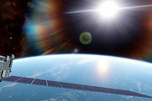Satelit Starlink ve vesmíru