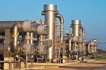Místo zpracování zemního plynu. Ilustrační snímek