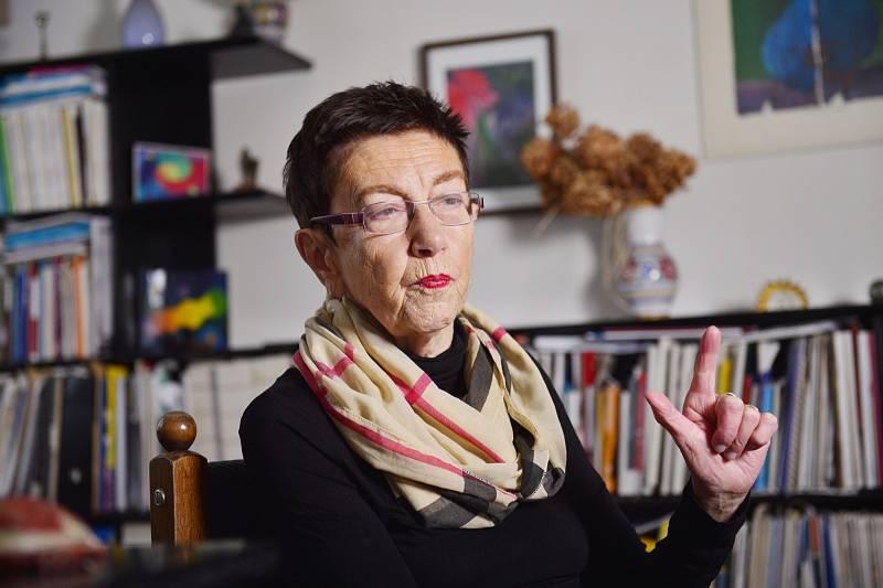 Socioložka a vysokoškolská pedagožka Jiřina Šiklová