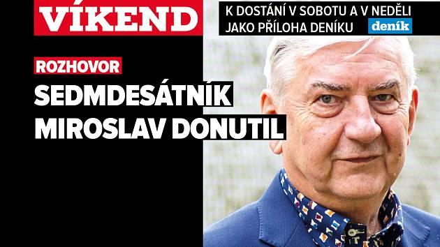 Miroslav Donutil, poutání na magazín Víkend