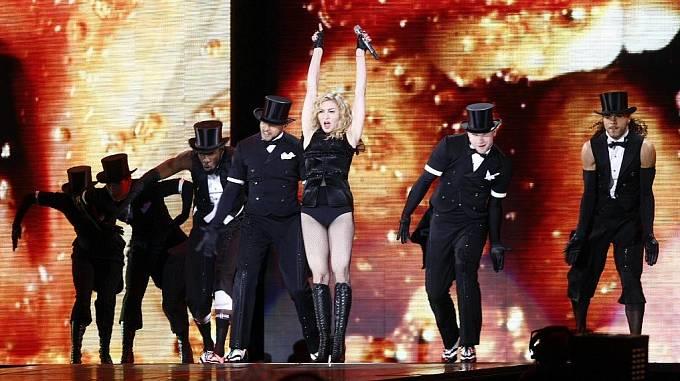 Americká královna popu, zpěvačka Madonna, vystoupila v Praze.