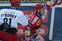 Útočník Slavie David Hruška právě vyrovnal na 1:1.