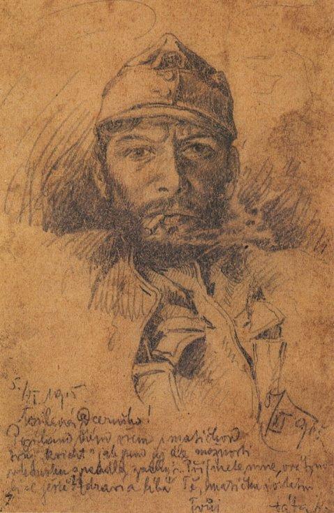 František Krejčí, autoportrét