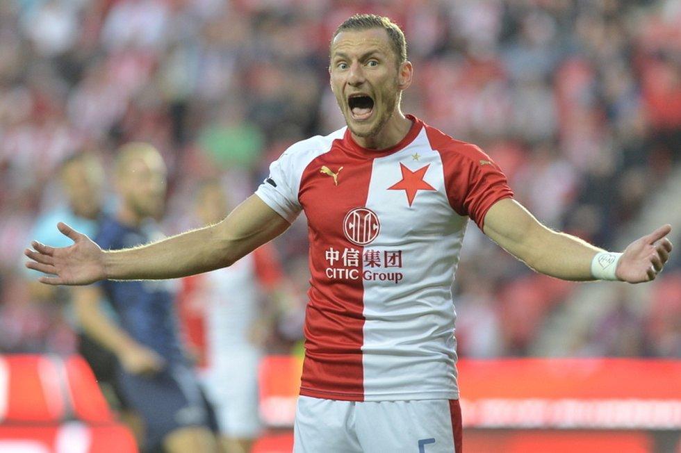 Fotbalista Slavie Vladimír Coufal.