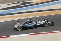 Lewis Hamilton v kvalifikaci na Velkou cenu Bahrajnu.