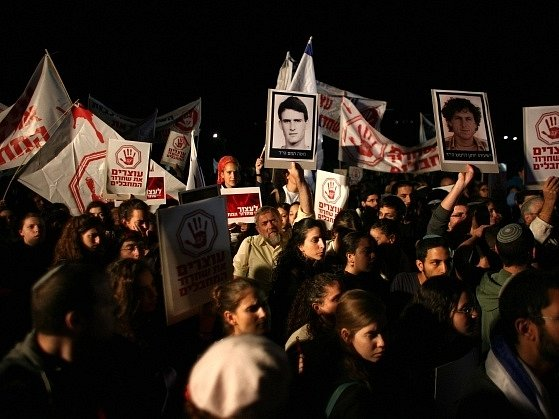 Izraelci protestovali proti propuštění dalších Palestinců
