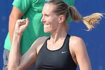 Nicole Vaidišová se raduje z vítězství.