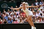 Maria Šarapovová ve čtvrtfinále Wimbledonu.