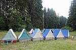 Dětský tábor, stany, prázdniny