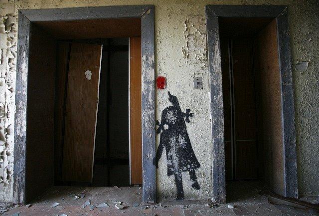 Pripjať. Město u jaderné elektrárny Černobyl.