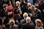 Francouzský prezident Emmanuel Macron před americkým Kongresem