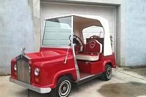 Golfový vozík slavného country zpěváka Willieho Nelsona