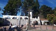 Gran Canaria. Kříž značí geografický střed ostrova v průsmyku Cruz dela Tejeda.