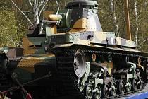 Tank Škoda LT vz. 35, který v roce 2008 získalo lešanské muzeum jako dar z USA.