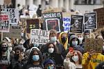 Demonstrace proti rasismu v Londýně