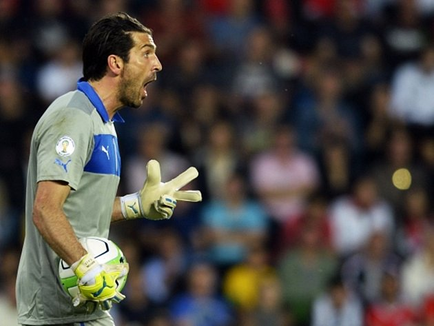 Brankář Itálie Gianluigi Buffon.