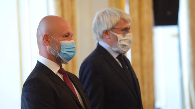 Petr Angyalossy při jmenování soudcem Nejvyššího soudu.