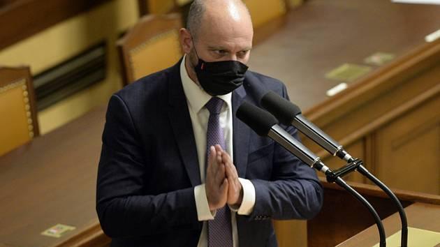 Ministr školství Robert Plaga (za ANO).