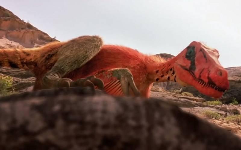 Velociraptor na lovu v představě počítačových tvůrců