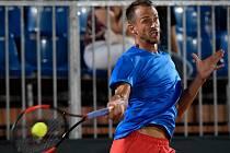 Lukáš Rosol na zápase Davis Cupu v Maďarsku
