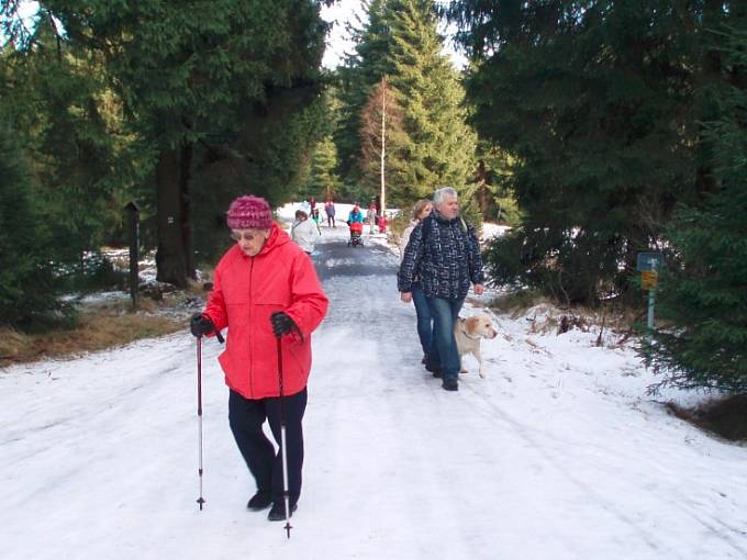 senioři - nordic walking