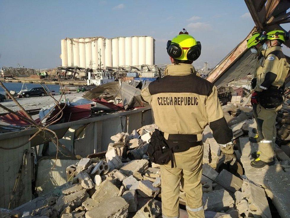 Čeští hasiči v Bejrútu