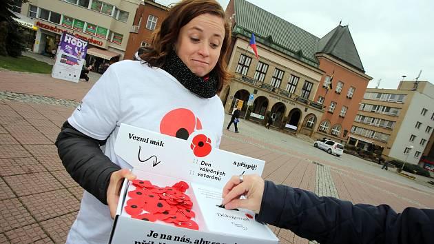 Den válečných veteránů minulý rok na náměstí Míru ve Zlíně.