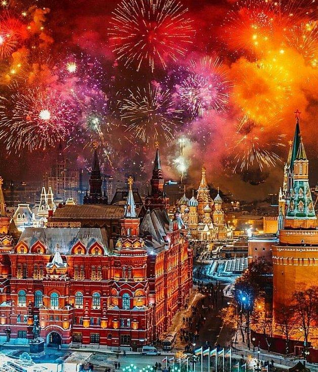 Novoroční oslavy v Moskvě
