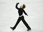 Tomáš Verner při krátkém programu na mistrovství světa v Göteborgu.