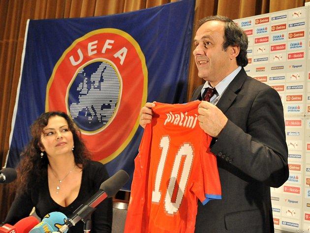 Michel Platini, prezident Evropské fotbalové federace UEFA.