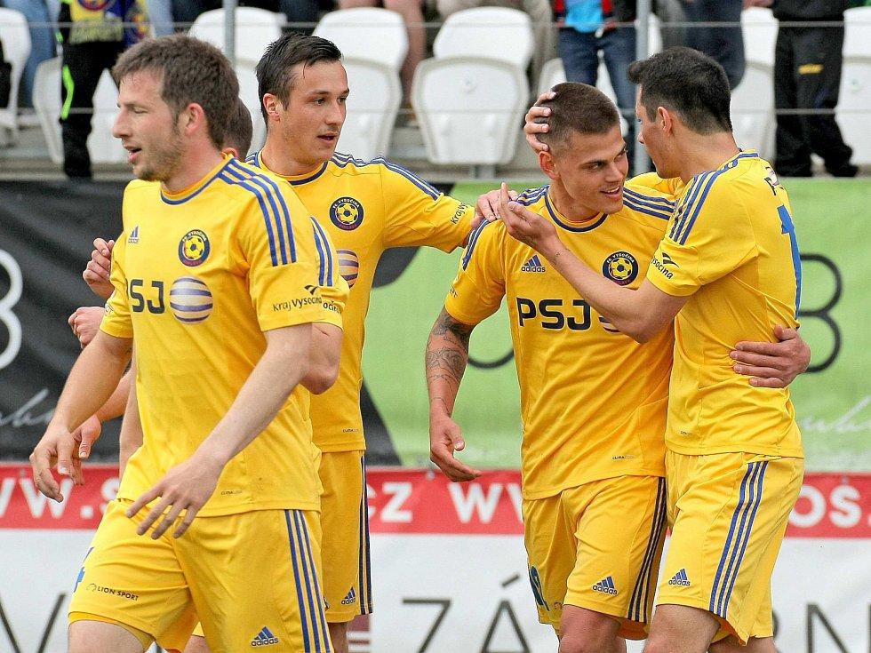 Jihlava porazila Ostravu: Radost domácích fotbalistů