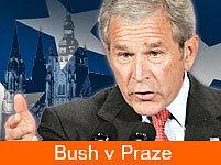George Bush již Prahu navštívil v roce 2002.