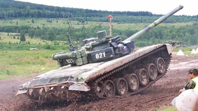 Tank T-72 české armády.