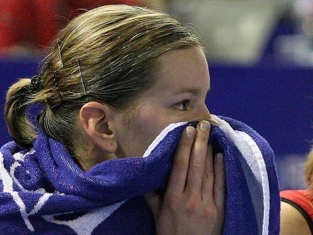 Basketbalistka USK Praha Eva Vítečková.