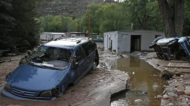 Rozsáhlé záplavy v americkém státě Colorado - Barack Obama vyhlásil pro postiženou oblast stav nouze.