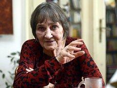 Někdejší disidentka a mluvčí Charty 77 Dana Němcová.