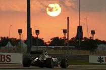 Nico Rosberg v tréninku na Velkou cenu Abú Zabí.