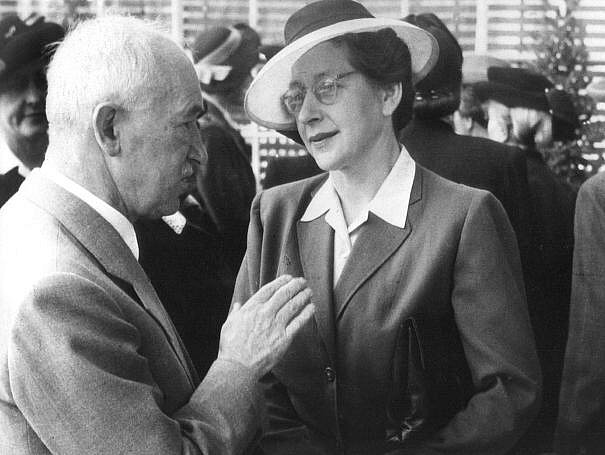 Milada Horáková s prezidentem Benešem na snímku z roku 1947