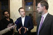 Zdeněk Hřib (vpravo) a Jan Čižinský.