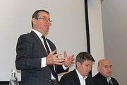 Bohdan Wojnar, člen představenstva Škody Auto, představuje projekt Nové Boleslavsko.