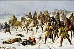 Také při druhé křížové výpravě se křižáci dostali do Kutné Hory, v lednu 1422 však byli vyhnáni Janem Žižkou. Obraz Josefa Mathausera zachycuje Žižku před tímto střetnutím